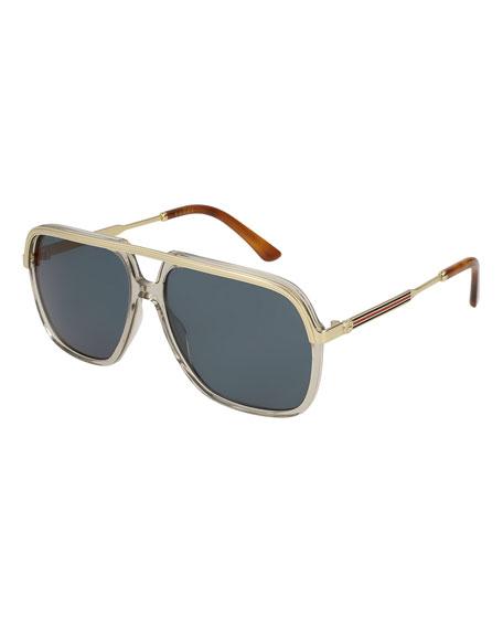 Gucci Metal-Trim Aviator Sunglasses