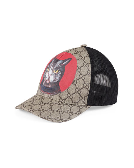 Gucci Gatto GG Supreme Canvas Baseball Cap