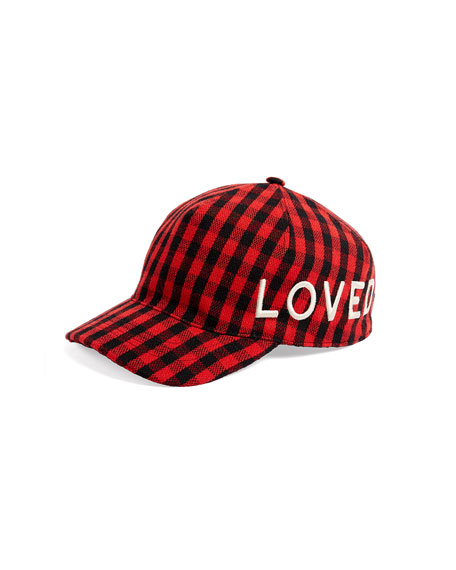 Gucci Loved Check Flannel Baseball Hat