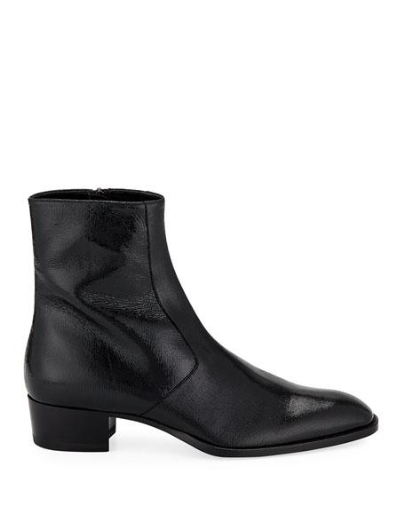 Men's Wyatt Zip-Up Boot, Black