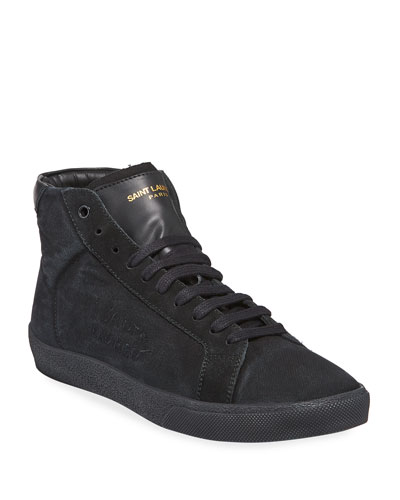 SL06 Men's Suede Mid-Top Sneaker