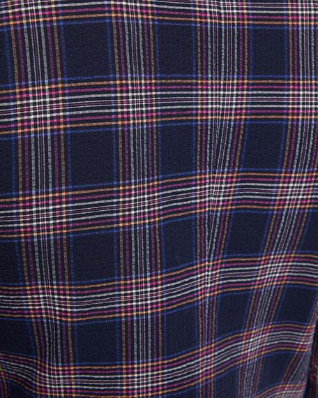 Seersucker Check-Print Sport Coat