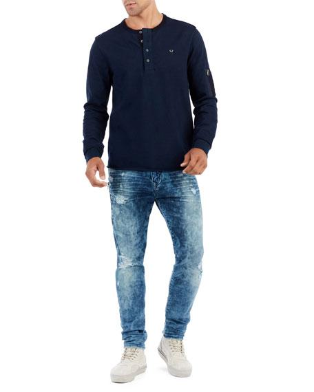Mick Distressed Slim-Straight Jeans