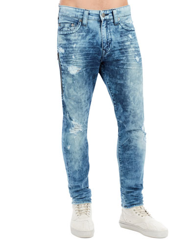 Mick Distressed Slim-Straight Jeans