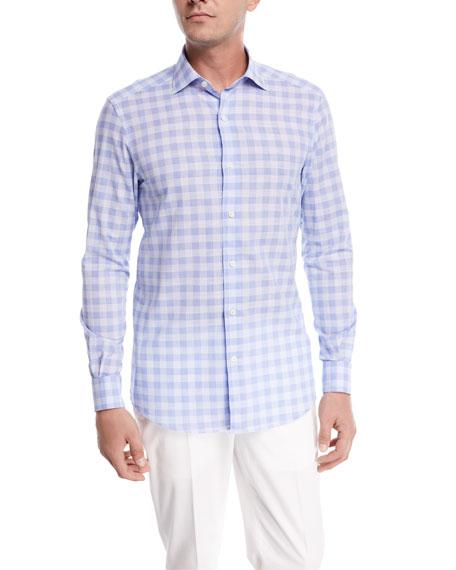 Ermenegildo Zegna Long Sleeve Woven Shirt