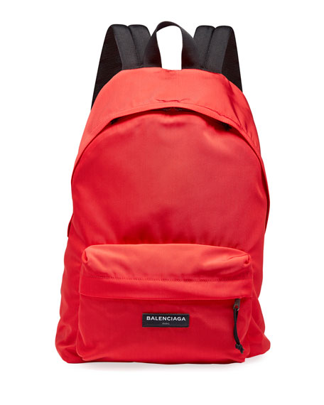 Balenciaga Men's Solid Canvas Backpack