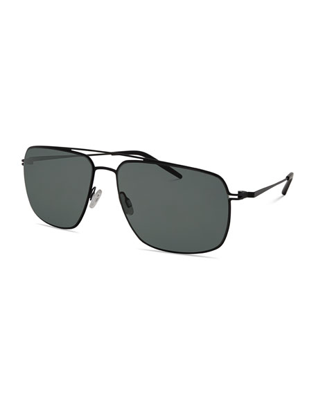 Men's Square Aviator Sunglasses