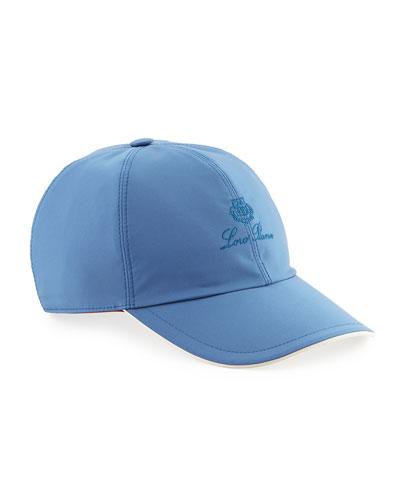 Wind Logo-Embroidered Baseball Hat