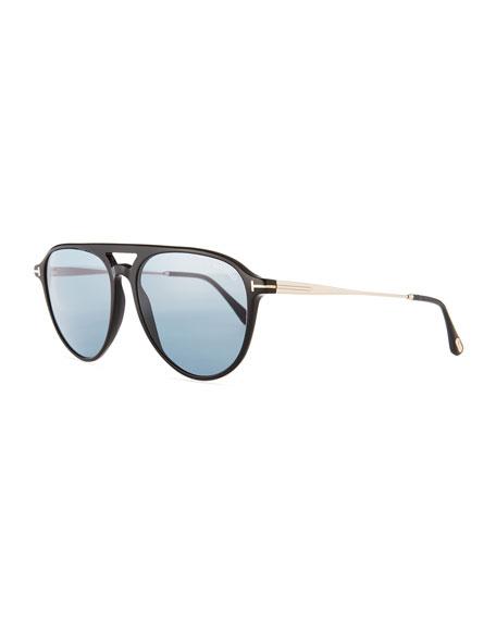 TOM FORD Carlo Acetate-and-Metal Aviator Sunglasses