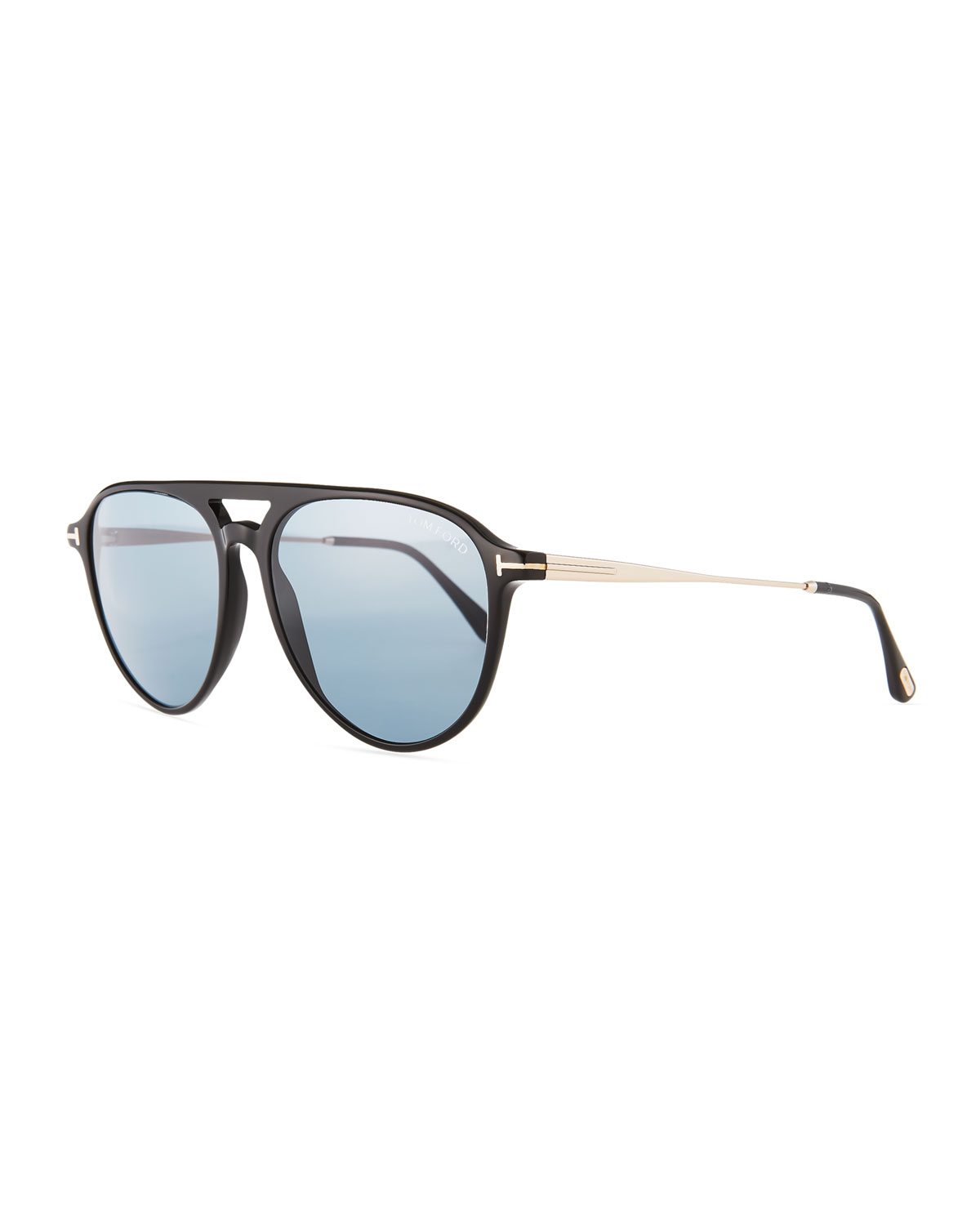 1b7efa065d7 TOM FORD Carlo Acetate-and-Metal Aviator Sunglasses