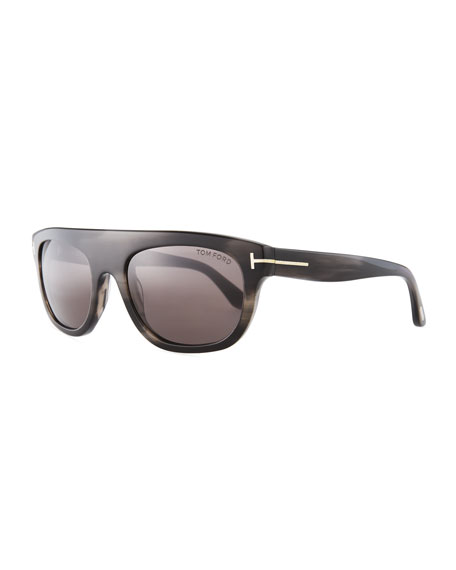 TOM FORD Frederico Thick Square Acetate Sunglasses