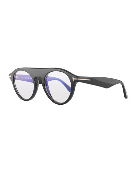 TOM FORD Christopher Round Acetate Optical Glasses