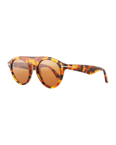 Christopher Round Acetate Sunglasses