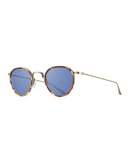 Barton Perreira Aalto Matte Metal Sunglasses, Brown