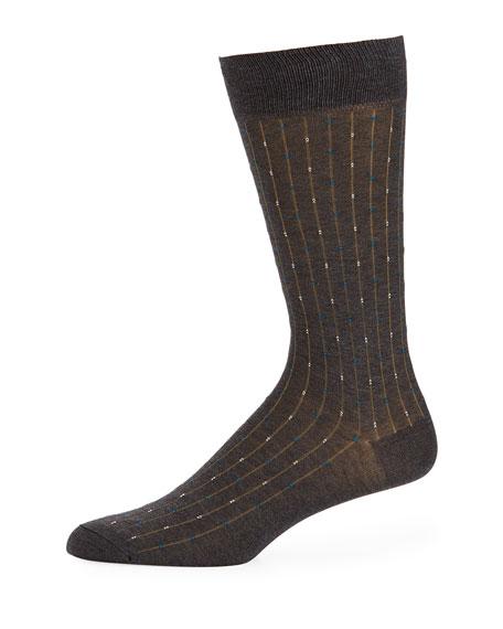 Pantherella Palmer Striped Cotton-Blend Socks