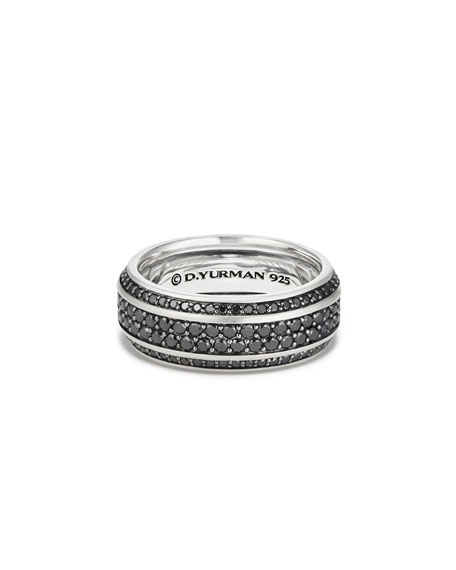 David Yurman Beveled Edge Band Ring with Black