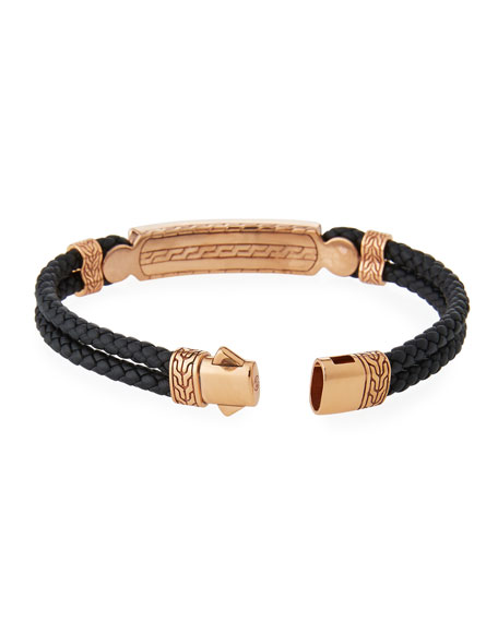 Men's Classic Chain Onyx ID Bracelet