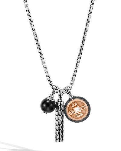 Men's Classic Chain Triple-Pendant Necklace