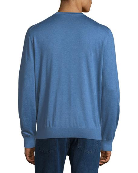 Ermenegildo Zegna V-Neck Cashmere-Silk Sweater
