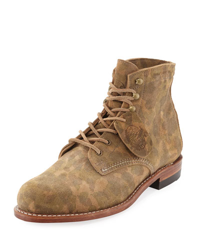 Camouflage-Print 1000 Mile Boot, Green