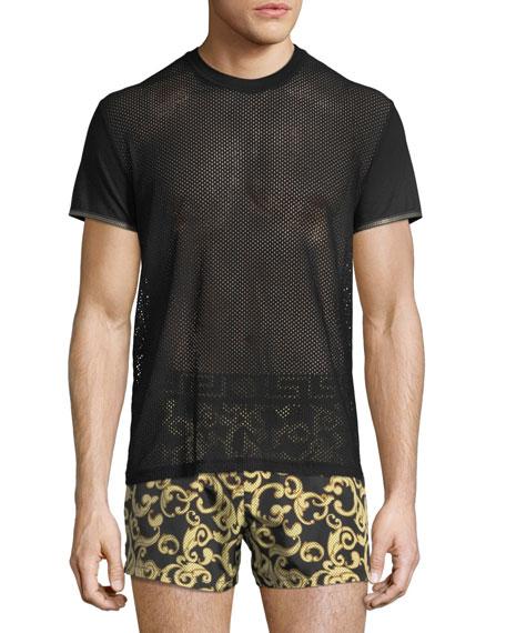 Versace Short-Sleeve Net T-Shirt