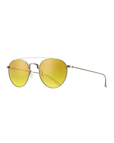 Metal Round Aviator Sunglasses