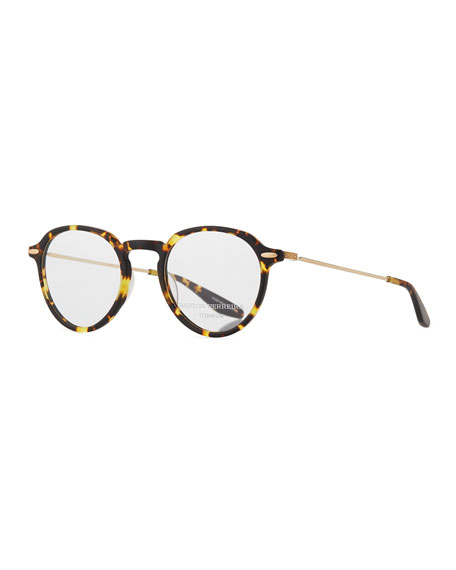 Barton Perreira Elon Tortoiseshell Round Optical Glasses