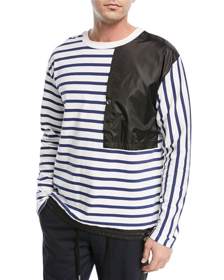 Public School Delroy Striped Crewneck Top