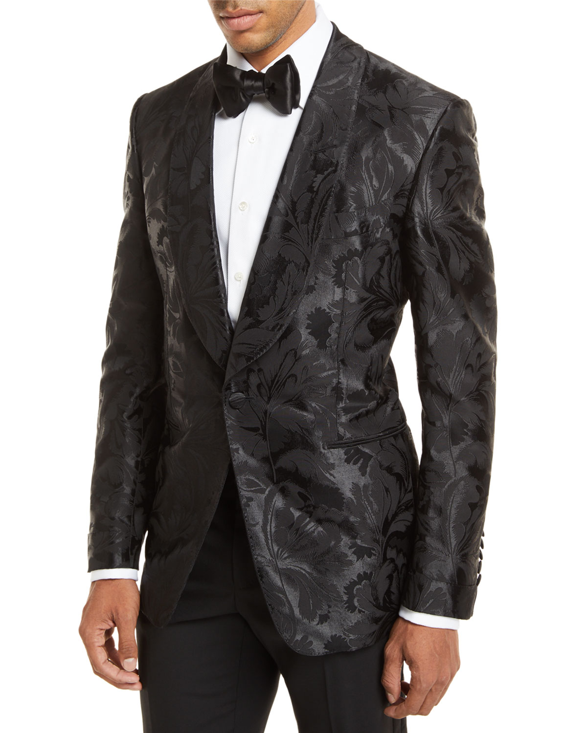 reliable reputation hot-selling clearance various design Floral Jacquard Dinner Jacket