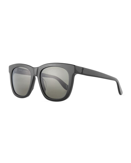 Saint Laurent Men's SL M24K Oversize Square Acetate