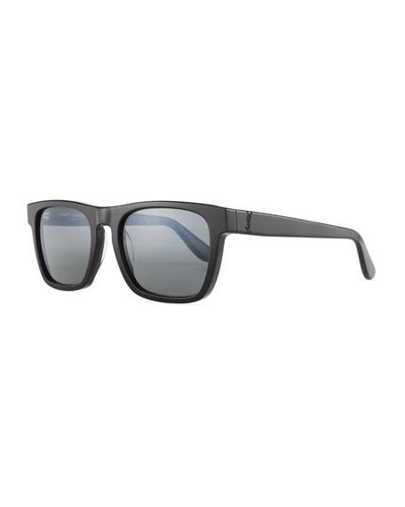 Saint Laurent Thick, Square Acetate Sunglasses