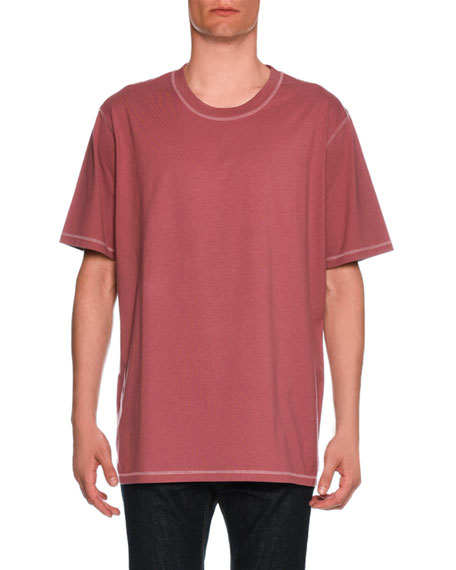 Oversized Contrast-Trim T-Shirt