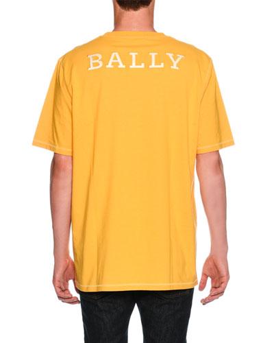 Oversized Logo-Back T-Shirt, Yellow