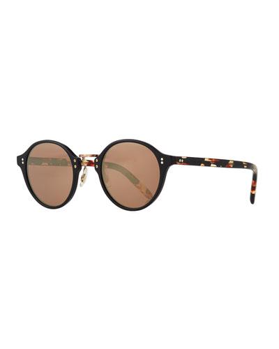 30th Anniversary Round Sunglasses, Rose Golden