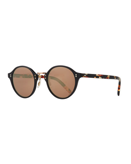 Oliver Peoples 30th Anniversary Round Sunglasses, Rose Golden