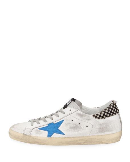 Men's Distressed Superstar Leather Low-Top Sneaker