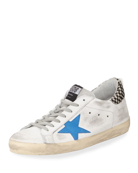 Golden Goose Men's Distressed Superstar Leather Low-Top Sneaker