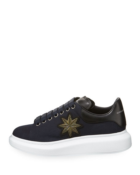 Men's Patch Leather Low-Top Sneaker