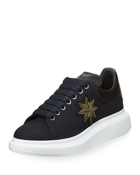 Alexander McQueen Men's Patch Leather Low-Top Sneaker