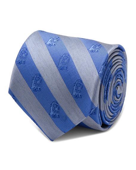 Cufflinks Inc. Star Wars R2-D2 Striped Silk Tie