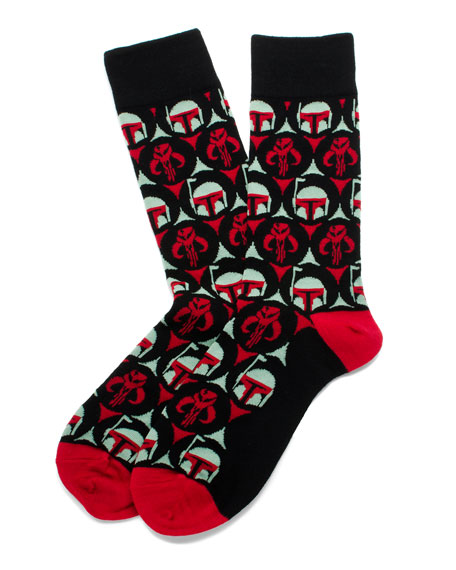 Cufflinks Inc. Star Wars Boba Fett Bounty Hunter Socks