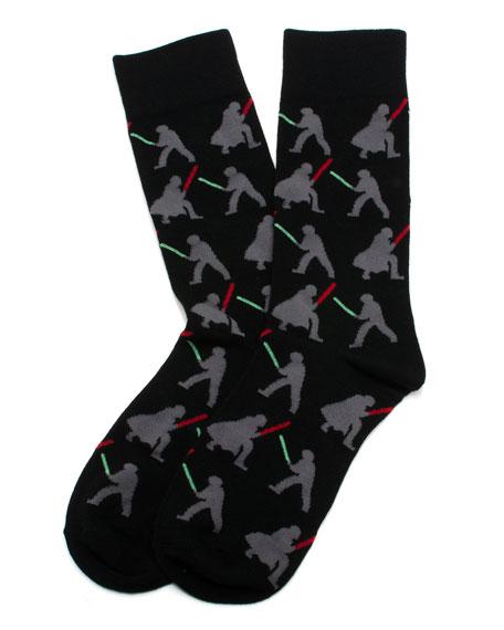Cufflinks Inc. Star Wars Darth Vader versus Luke Skywalker Socks