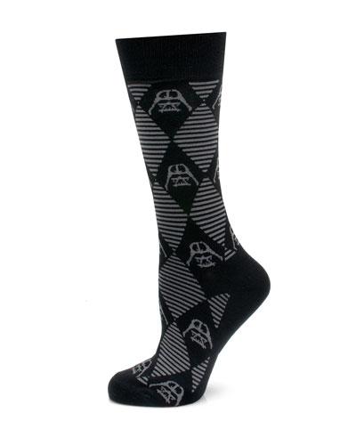 Star Wars Darth Vader Argyle Socks
