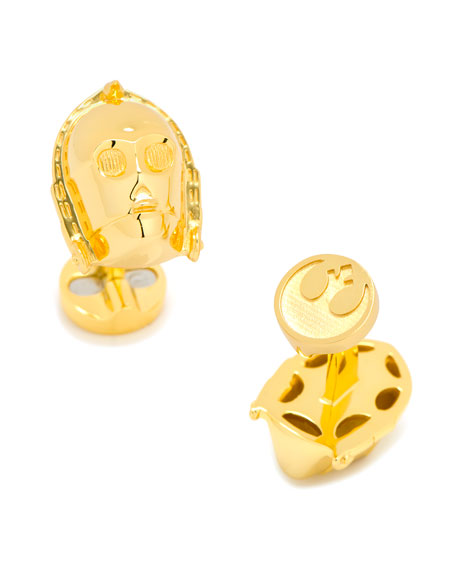 Cufflinks Inc. 3D Star Wars C-3P0 Cuff Links