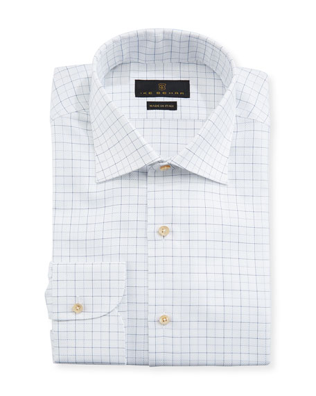 Men's Fredrick Grid-Pattern Dress Shirt