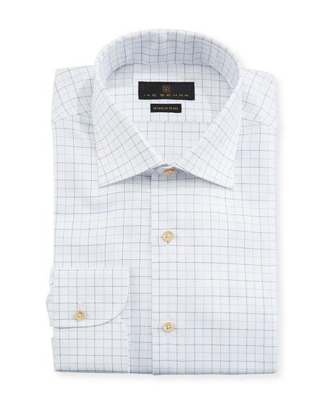 Men's Fredrick Grid-Pattern Dress Shirt