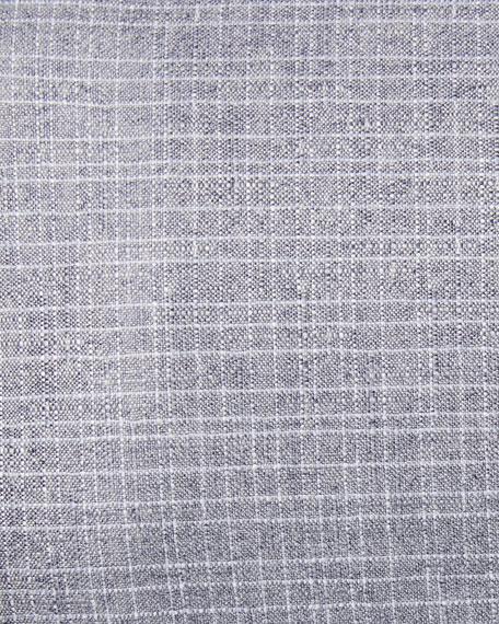 Canali Silk-Cashmere Grid-Textured Blazer