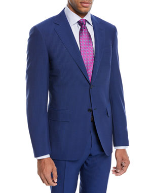 70b7126c074c4a Canali Double-Stripe Wool Two-Piece Suit