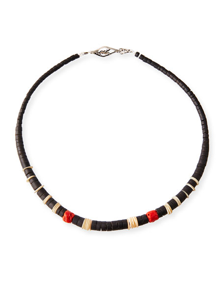 Saint Laurent Mens Beaded Necklace O2RQE