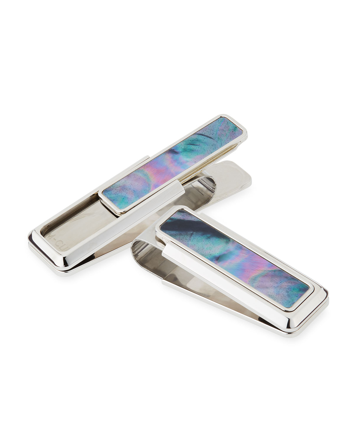 M Clip Mother-of-Pearl Stainless Steel Money Clip
